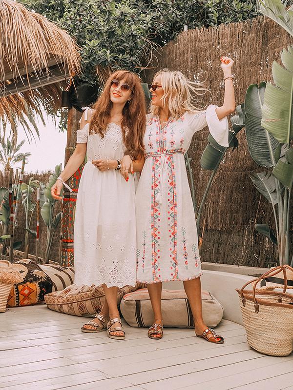 Belle & Bunty fashion bloggers what to wear in a heatwave cotton linen dresses