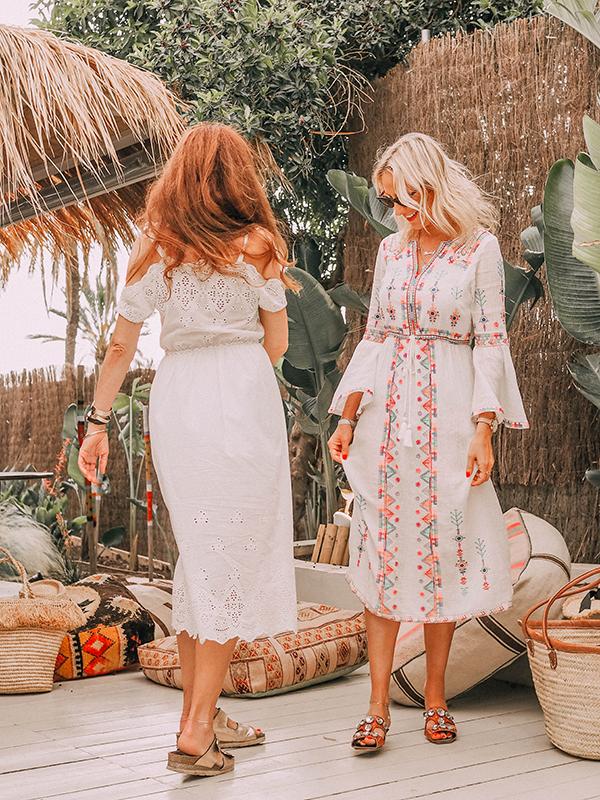 belle & bunty travel bloggers fashion blog London ibiza summer dresses in natural fabrics cotton linen