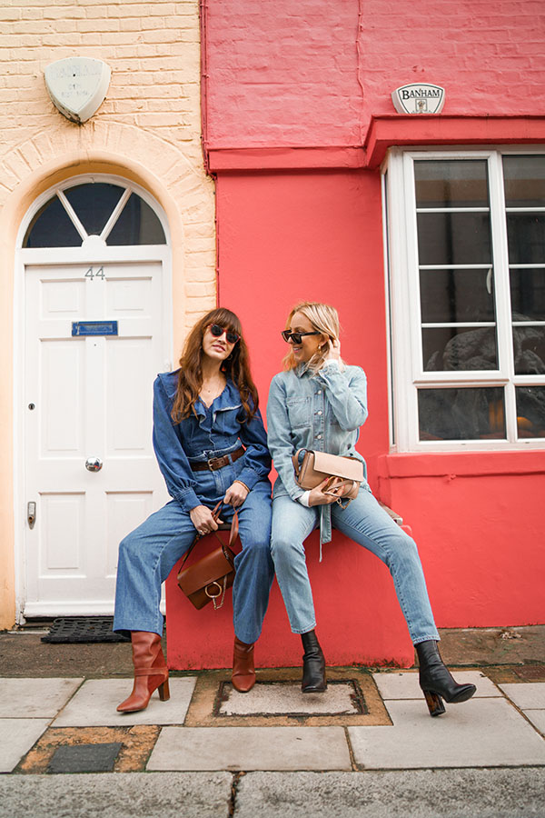 belle & bunty london double denim fashion influencers bloggers