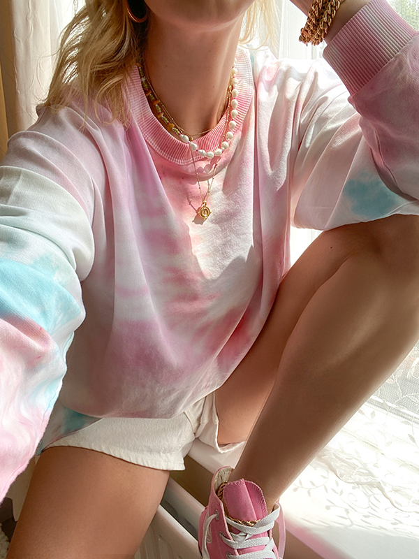 How to do diy tie dye yourself homemade sweatshirt hoody pastel colours
